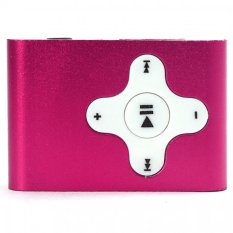 Mini Clip Metal USB MP3 Player Support Micro SD TF Card Music Media Hot Pink Free Shipping