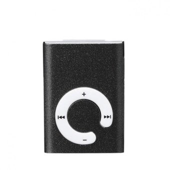 Mini Clip Metal USB MP3 Player Support Micro SD TF Card Music Media Black