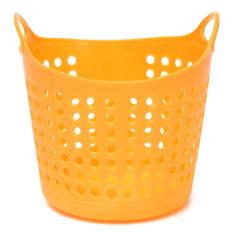 Mini Desk Storage Basket Portable Useful Plastic Organizer Decor Stationery F1R Orange