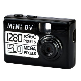 Mini DV Kamera - Maks. 5 MP - Hitam