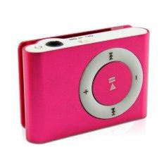 Mini MP3 Player Aluminium Clip USB Support Micro SD TF 2 4 8 GB Rose