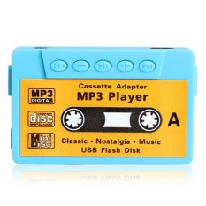 Mini MP3 Player TF USB Flash Disk Cassette Speaker Blue R1BO