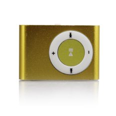 Mini USB Clip Metal MP3 Support 1-8GB TF Card Turquoise