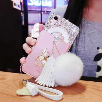 Mobile Phone Cover Lady Casing Rhinestone Case for OPPO F1 Plus intl .