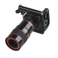 Mobile Phone Telescope Lens With Universal Clamp For Mobile Phone - Black