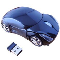 Moonar 3D Wireless Optical Mouse Car Shaped - Hitam