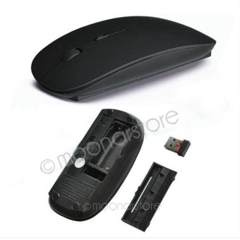 Moonar Candy Color 2.4GHz Ultra Thin USB Optical Wireless Mouse For Computer PC Laptop Desktop - intl