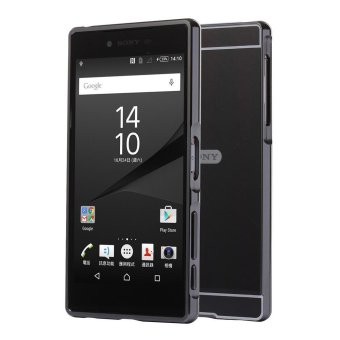 Mooncase Case For Sony Xperia Z5 Premium Luxury Metal AluminumBumper Detachable + Mirror Hard Back 2 in 1 Cover Ultra Thin FrameGrey - intl