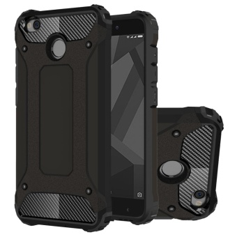 MOONCASE Hybrid [Full Body] [Heavy Duty] Armor Case Dual Layer Shock Absorbing TPU Protective Case Cover for Xiaomi Redmi 4X Black - intl