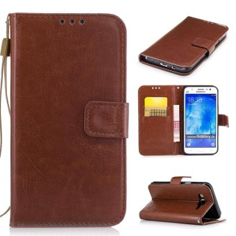 Moonmini Case for Samsung Galaxy J5(2015) Leather Case Flip WalletStand Cover - Brown - intl