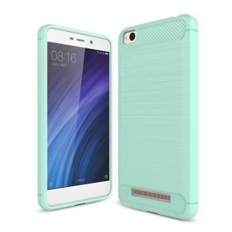 Moonmini for Xiaomi Redmi 4A Carbon Fiber Texture Brushed Soft TPU Anti-Slip Back Case