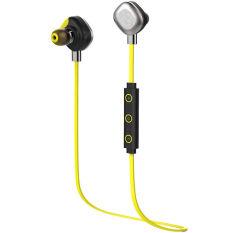 Morul U5 Plus IPX7 Waterproof Sport Earphone Magnetic StereoAuriculares Wireless Earbuds Running Bluetooth HeadsetMicrophone (Yellow)