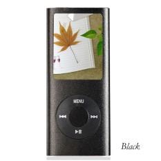 "MP3 MP4 Player Slim 4TH 1.8"" LCD / FM Radio + 8GB Memory Card + Headset (Black)"