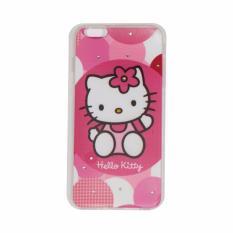 MR Apple iPhone 6 Plus Ukuran 5.5 inch Animasi & Shine Swarovsky Softshell / Softcase / Jellycase - Hello Kitty Pink 4