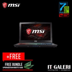 MSI GP62 7REX Leopard Pro-857ID - Intel Core i7-7700HQ - 8 GB DDR4 - 256 GB SSD - 1 TB HDD - Nvidia GeForce GTX 1050 Ti 4 GB - 15.6