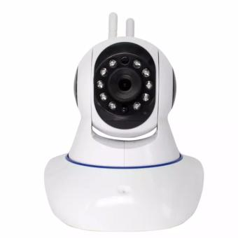Murah New Kamera Cctv Rotating Ip Camera Terbaru / Security Cam / Spy Cam / Wifi Wireless Wps, V380, Hd 720p, P2p, Plug And View, Two Way Audio, Double Antenna, Support Android & Ios