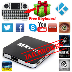 MX Pro Smart TV Box XBMC WIFI Android 8GB Media Player With Keyboard UK Plug - Intl