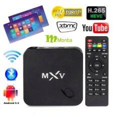MXV Android TV BOX Kodi Fully Loaded XBMC Amlogic S805 Quad Core1GB / 8GB Wifi LAN 4k Tv Blu Ray Player Kodi Player Streaming MediaPlayer - Intl