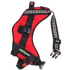 NEOpine Dog Fetch Hound Harness Adjustable Chest Strap Belt Mount For GoPro HERO 4/3 + / 3/2 / 1 (Red)