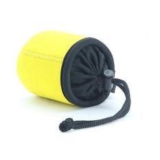 NEOPine Elastic Neoprene Lens Pouch Storage Protective Barrel CaseBag For Sony QX10 Lens (Yellow)