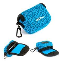 NEOPine Leopard Pattern Neoprene Camera Case Bag For Gopro HERO3HERO3 + HERO4 Sport Action Camera (Blue)