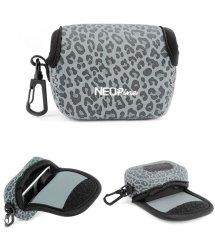 NEOPine Original Leopard Pattern Neoprene Soft Camera Case Bag For Gopro HERO3 HERO3 + HERO4 Sport Action Camera Protective Pouch Cover (Gray)