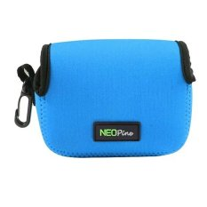NEOPine Original Triangle Neoprene Soft Camera Case Bag For CanonPowerShot G5X Waterproof Camera Protective Pouch Cover (Light Blue)