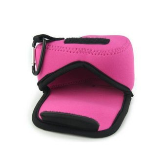 NEOPine Original Triangle Neoprene Soft Camera Case For SONY NEX-5TNEX-5R NEX-3N Alpha A5000 With 16-50mm Lens Camera Protective PouchCover (Pink)