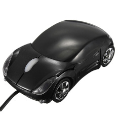 New Car Shape Optical USB Wired Mouse For Computer PC Laptop Notebook Gift Black
