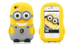 New Hot Despicable Me 3 Cute Yellow Minions iPhone Case For iPhone 3D Silicon iPhone Case