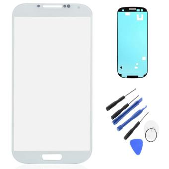 New LCD Outer Lens For Samsung Galaxy S4 I9500 Touch Screen FrontGlass With Bezel Frame Adhesive Tape Repair Tools W0F29 P0.25 -intl