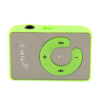 New Mini Mirror Clip Mp3 Sport Music Player With TF-Card Slot Support Blue Hot Portable High Quality (Green)