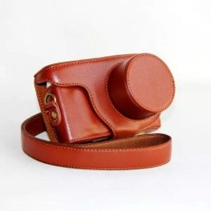 New Pu Leather Camera Case Bag for Samsung NX mini 9-27mm Lens Camera cover bag with strap - intl