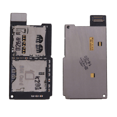 New Sim + Memory Reader Flex Card Slot Tray Holder For HTC One SV