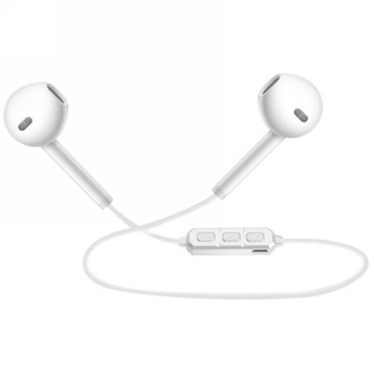 Newest H5 Bluetooth 3.0 Headset Wireless Earphone Sport RunningStereo Earbuds With Microphone -White - intl
