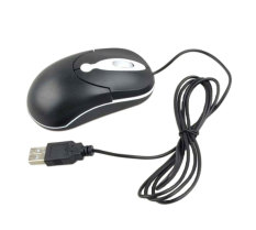 NiceEshop Black Wired USB Optical Mouse For PC Laptop Computer