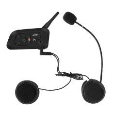NiceEshop Bluetooth Motorcycle Motorbike Helmet Interphone Intercom Headset (1200M, UK Plug)