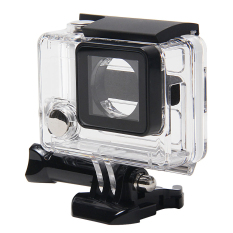 NiceEshop Clear View Skeleton Open Side Protective Housing Case With Lens For Gopro 3 + / 4