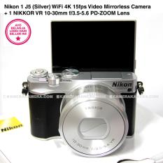 Nikon 1 J5 (Silver) WiFi 4K 15fps Video Mirrorless Camera + 1 NIKKOR VR 10-30mm f/3.5-5.6 PD-ZOOM Lens