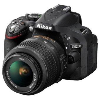 Nikon D5200 Lensa Kit 18-55mm NON VR - 24.1 MP - Hitam.