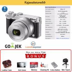 Nikon Kamera Mirrorless J5 Kit 10-30 VR - Silver - Free Aksessories Kamera