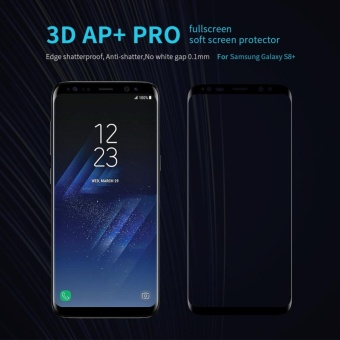 Nillkin 0.1mm Full Coverage 3D Rounded Edge Tempered Glass ScreenProtector for Samsung Galaxy S8 Plus