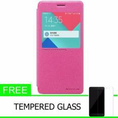 Nillkin Sparkle Series New Leather case for Samsung Galaxy J3 PRO (J3110) - Merah