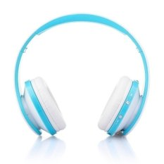 NX-8252 Bluetooth Headphone Fold High Fidelity Surround Sound Wireless Stereo Headset with Mic (Blue) (Intl)