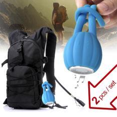 Offer Set Outdoor Waterproof Backpack With 2.5L Water Bag & Mini Portable Bluetooth Wireless Speaker Black - Intl