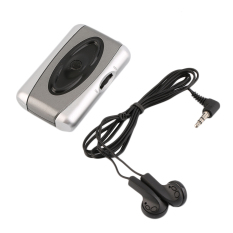 OH Personal TV Sound Amplifier Hearing Aid Assistance Device Listen Megaphone Silver & Black & Grey- Intl