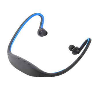 Oh Handsfree Stereo Headset Bluetooth Nirkabel Olahraga headphone untuk IPhone handphone Biru