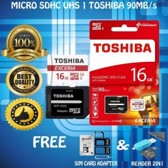 harga Original 100% Toshiba Micro SD 90Mb/s 16Gb Class10 UHS-3 Gratis