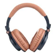 OVLENG V8-3 90°Foldable Super Bass Wireless Bluetooth 4.0 Games Headphone For Iphone / Ipad / Samsung Galaxy - Dark Blue + Light Brown (Intl)