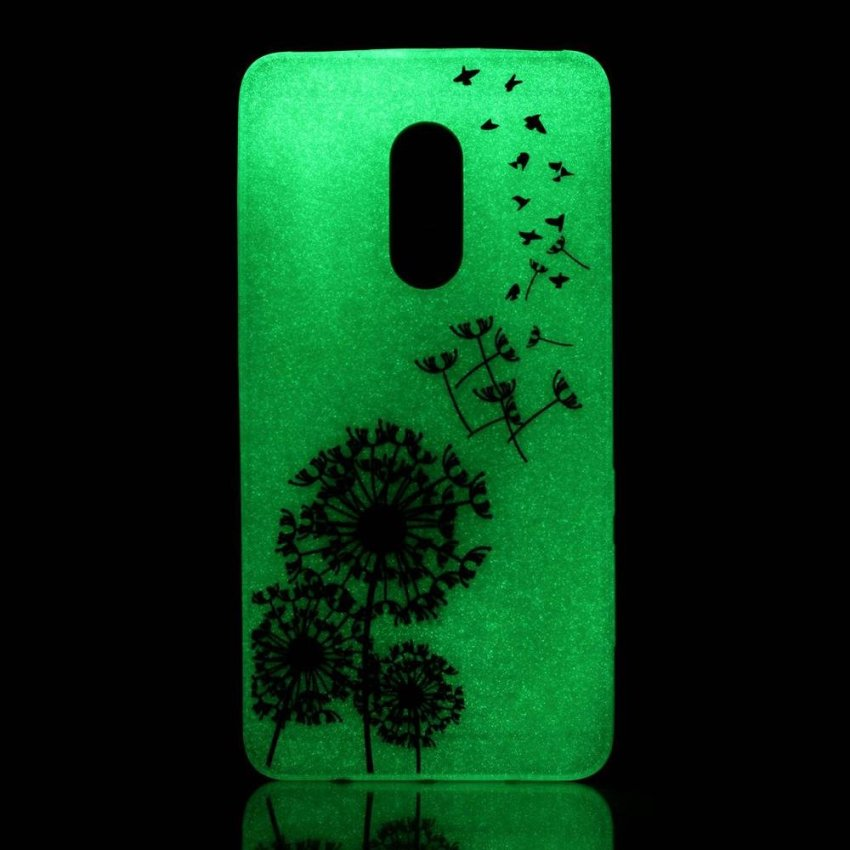 Patterned TPU Noctilucent Cover Case for Xiaomi Redmi Note 4 Flying Dandelions intl .